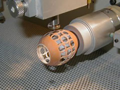 Egg lacing in Comco microblasting lathe