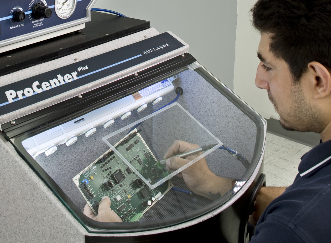 Comco's VisionPlus window shields protect the glass on your microblasting workstation