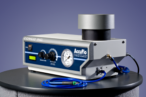 The modulator on Comco's AccuFlo lasts approx 5,000 blast hours.