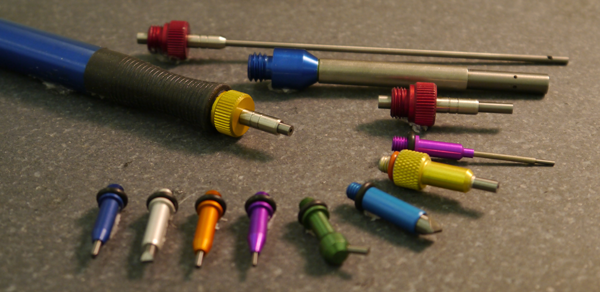 MicroBlasting nozzles - range of sizes and shapes