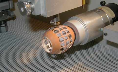Egg lacing with Comco Lathe