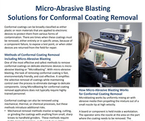 Conformal Coating Removal with MicroBlasting - Application profile