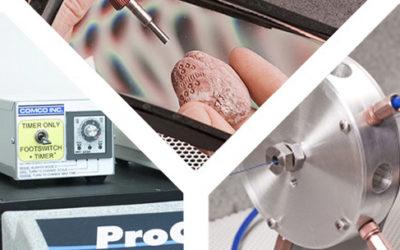 Comco MicroBlasting Accessories: Blast Timer, Magnifier, Ring Nozzle.