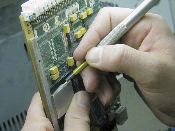 Selective Cleaning: Conformal coating removal from circuit board