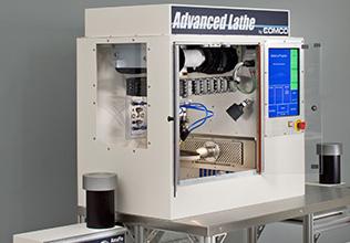Comco Advanced Lathe LA3250 powered by AccuFlo abrasive blasters