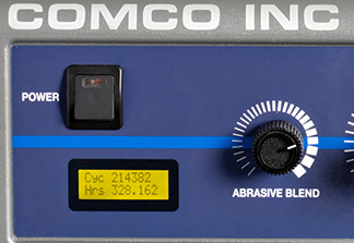 Easy-to-read LCD display on Comco AccuFlo