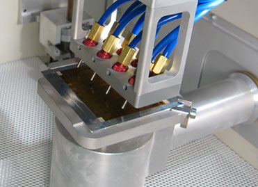 Multi-nozzle Comco Automated MicroBlasting system processing thin film for load cell