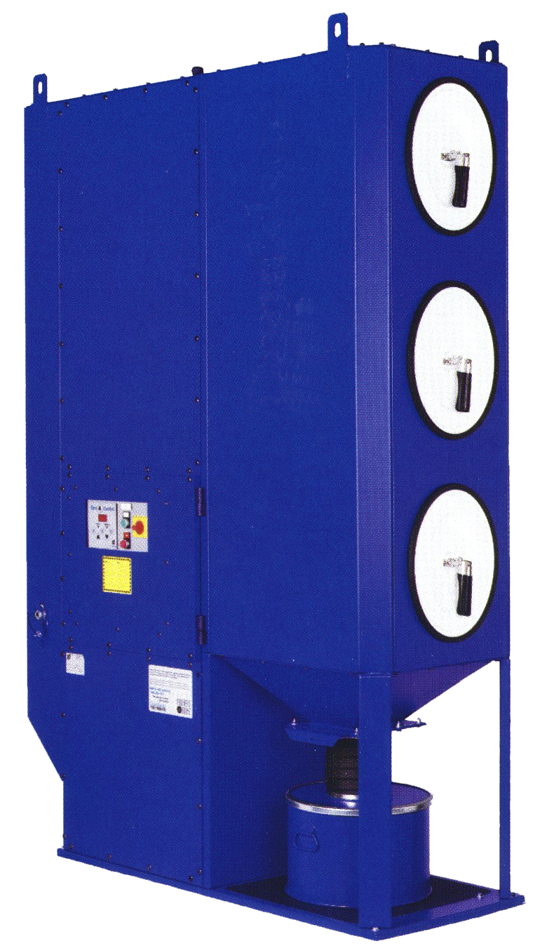 Dust Collector model DC3100, cartridge-style for industrial micro-precision sandblasting