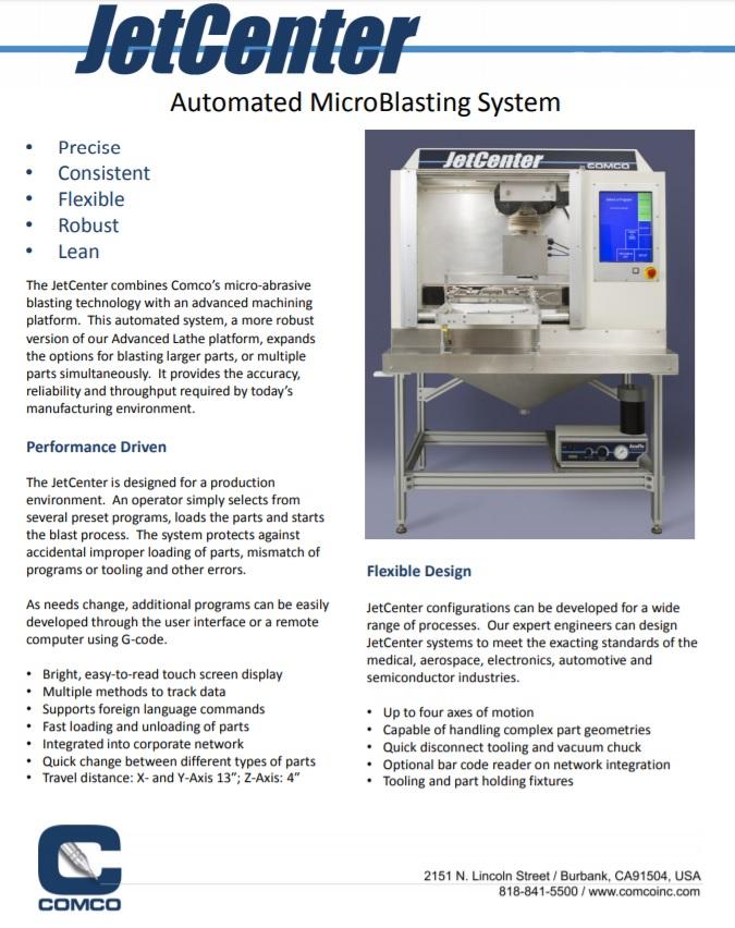 JetCenter brochure in PDF