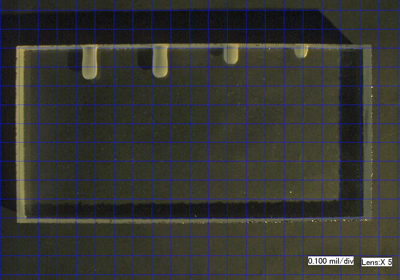 MicroBlasting sample- drilled hole comparison