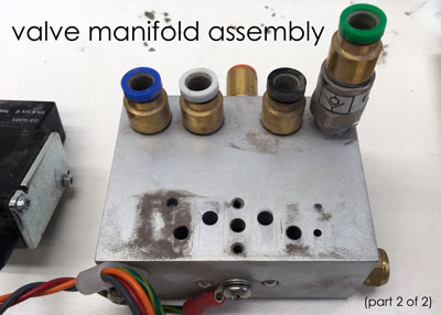 damaged valve manifold assembly (2 of 2)