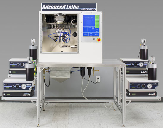 Comco Advanced Lathe LA3250 powered by AccuFlo microblasters