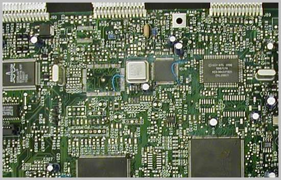 PC set-top board after cleaning with MicroBlasting
