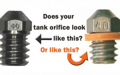 Maintenance Tip: Check the seal on the tank orifice!