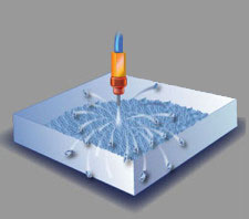 Texture surfaces with MicroBlasting